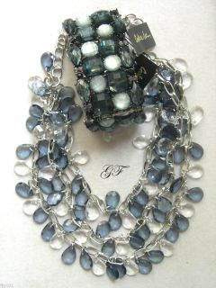Cookie Lee Clear Blue Ice Facets Jewelry $16 00 $42 00