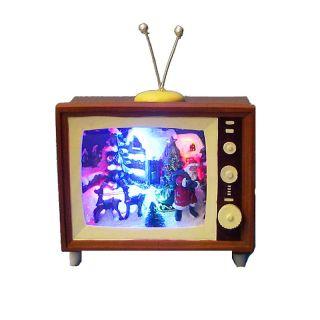 113 2579 kurt adler kurt adler 6 1 2 battery operated musical led tv