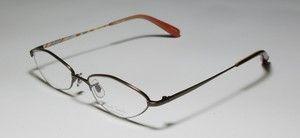 51 17 138 Brown Vision Care Half Rim Eyeglass Glasses Frames