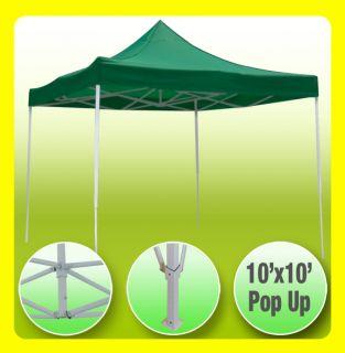 New 10x10 EZ Pop Up Party Tent Gazebo Canopy Green 03