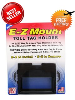 EZ Pass Toll Tag Holder Black E Z Mount Free SHIP Out