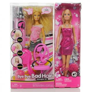 Barbie Doll Bye Bye Bad Hair Detangler Kit Playset