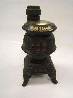Ezra Brooks Whiskey Bottle Pot Belly Stove 1968