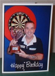Phil Taylor Personalised Birthday Greetings Christmas Get Well Card T1