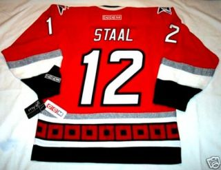 Eric Staal Size Large with C Carolina Hurricanes CCM 550 Jersey BNWT