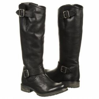 Sale New Steve Madden Womens Fairport Black Leather Boot Size 6 w Box