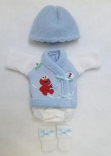 Ellery Kish OOAK Baby Doll 4 PC Diaper Shirt Clothes Outfit 5 6 Elmo