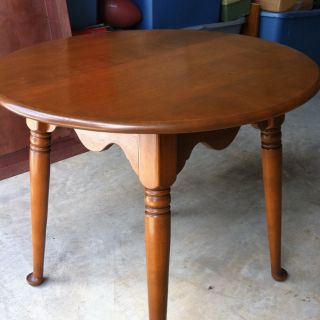 Ethan Allen Baumritter Round End Table