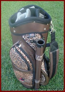 New Ladies Cat Animal Print Young Womens Lady Leopard Cart Golf Bag