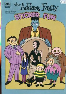 RARE The Addams Family Sticker Fun Like New 1993 with Stand Up Figures