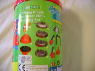 New Kid Knex Sesame Street Elmo Talking Knight in Armor Building Set