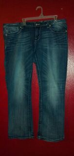 Miss Me jeans boot cut Plus size 36 18 20 EUC HTF so Cute W 21 5 L 30