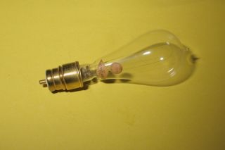 1890s Edison Era New Beacon Stopper Lamp LIGHTBULB Socket Light Bulb