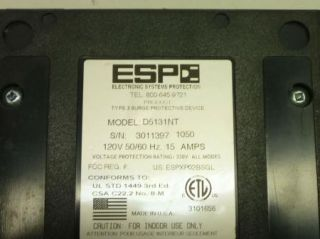 Ricoh ESP Digital QC Power Filter Model D5131NT Network Protection