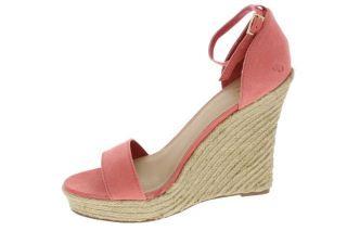 Famous Catalog Orange Wedge Sandals Espadrilles Shoes 8 BHFO