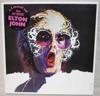 ELTON JOHN Australian 5 LP VINYL Box Set poster 1979 NEAR MINT