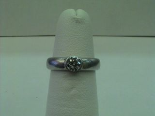 Tiffany Co Etoile Platinum Diamond Engagement Ring
