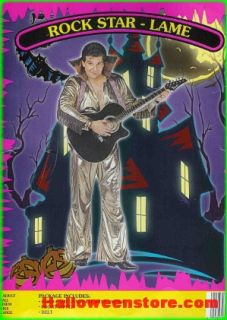 Rock Star Lame Elvis Costume LG CLOSEOUT