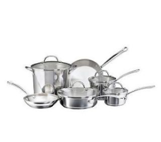 Brand New Farberware Millennium 10 PC Stainless Steel Cookware Pot Set