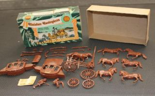 Vintage Wells Fargo Stage Coach Plastic Model Kit 1954 Revell K 501 98