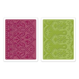 Sizzix Textured Impressions Embossing Folders 2PK Moroccan Daydreams