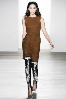 JUAN CARLOS OBANDO x GEORGE ESQUIVEL leather leg sleeves NWT L