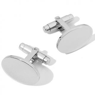 150 894 men s high polish oval stainless steel cuff links rating 1 $