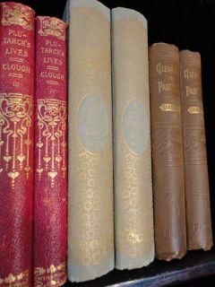 Magnificent 34 Book Antique Leather Premium Bound Library Lot Limited