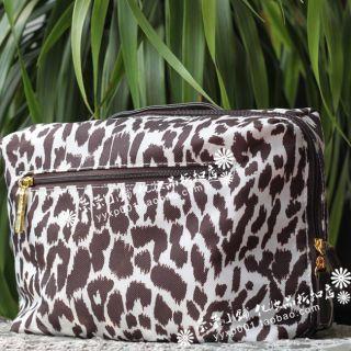 Estee Lauder Leopard Print Makeup Bag Cosmetics Pouch Train Case HUGE