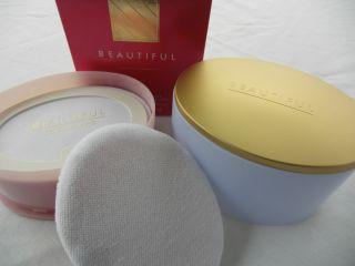 NEW Estee Lauder Beautiful Perfumed Body Powder 3 5oz Red Box Great