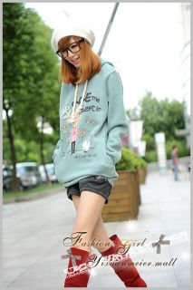 Last 1 Green Japan Fashion Women Girls Cute Hoodie Sweater Pullover