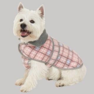 Fashion Pet Plaid Blanket Coat Dog Jacket Pink New
