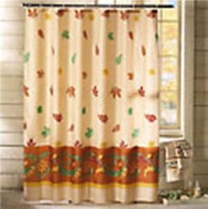 Fall Decor Autumn Leaves Shower Curtain New