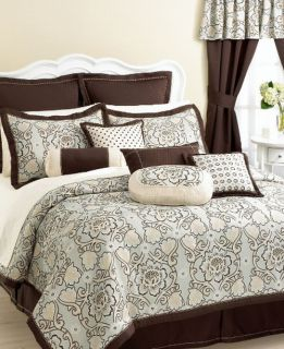 eva mendes sofia 4 piece king comforter set new