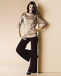 Eva Varro Womens Off Shoulder Sweater Tweed Tunic 1x