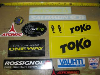 Cross Country Ski 14 Sticker lot Toko Salomon Vauhti Fast Wax Atomic