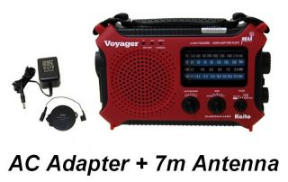 Voyager KA500RED Hand Crank Emergency Radio Complete Kit Red Radio