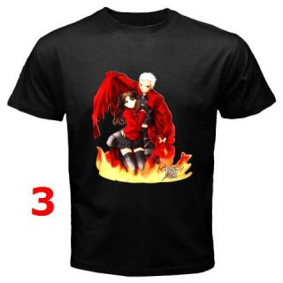 Fate Stay Night Anime Manga Black T Shirt