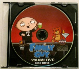 Family Guy Volume 5 Disc 3 Only Replacement Disc