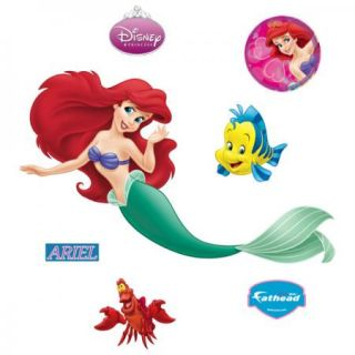 Fathead Disney LITTLE MERMAID ARIEL HUGE WALL POSTER New Sealed