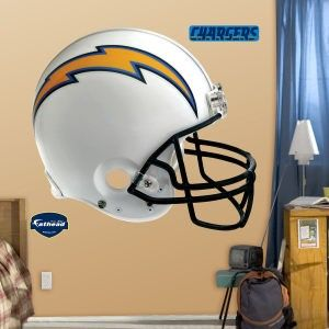San Diego Chargers Fat Head Fathead Helmet Huge 57 x 51 Tall Extra