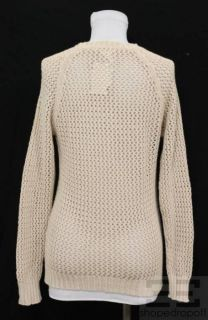 Etoile Isabel Marant Beige Open Knit Cotton Sweater Size 0