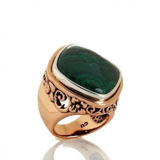 Jewelry Rings Gemstone Studio Barse Malachite Copper and Sterling