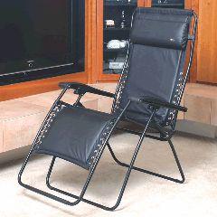 Faulkner Zero Gravity Chair Memory Foam Black Leather