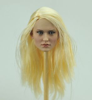 Custom 1 6 Emily Browning female girl HEAD SCULPT Blonde rooted Hair