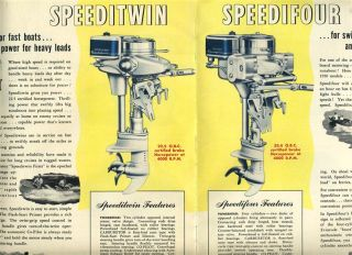 1950 Evinrude Fleetwin Fastwin Outboard Motor Catalog