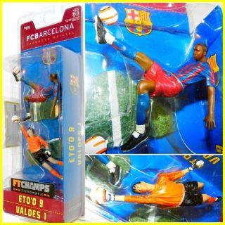 FC BARCELONA Football SOCCER Figure ETOO 9 VALDES 1 coleccionables