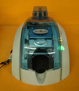 Evolis Pebble 3 ID Card Maker Thermal Printer Single Sided Ocean Blue