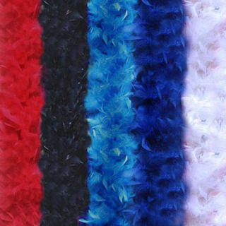 Feather Boas Black White Turquoise Dark Blue Red Halloween party