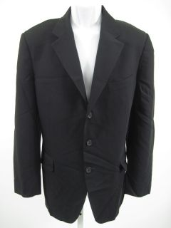 you are bidding on a emmanuel ungaro black wool blazer sport coat 40